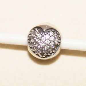 Pandora Love of My Life Clear CZ Heart Clip Charm